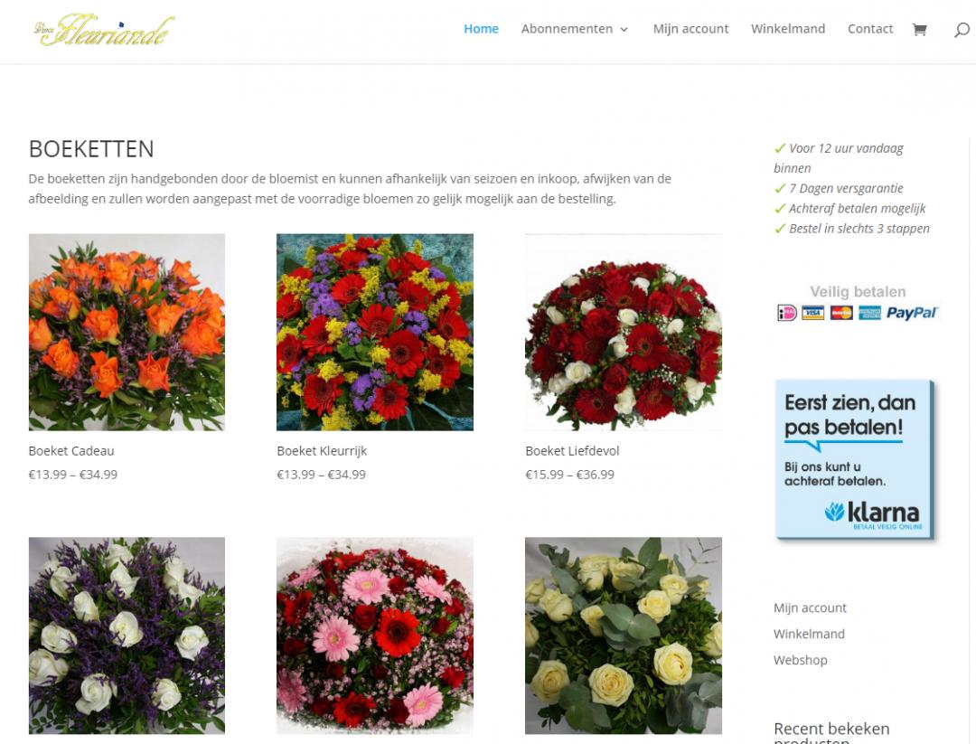 Bloemenwinkel Hoofddorp Fleuriande (webshop)