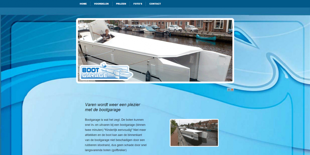 Webdesign: Bootgarage