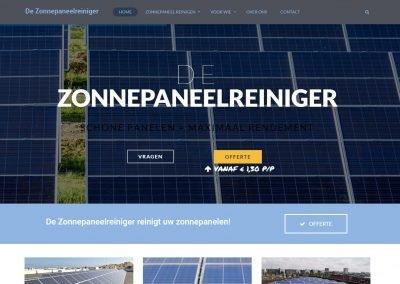 Webdesign: De Zonnepaneelreiniger