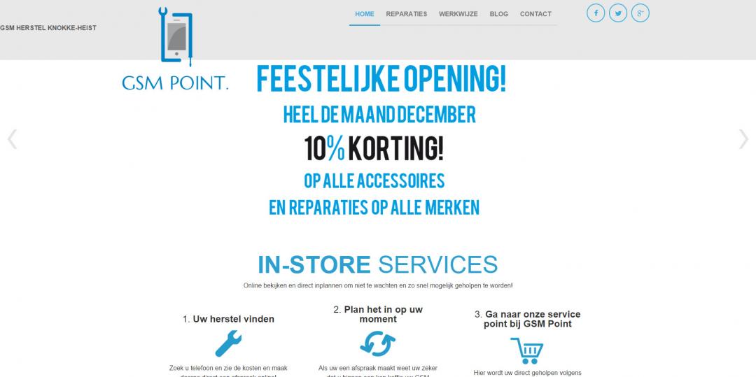 Webdesign: GSM Point V1