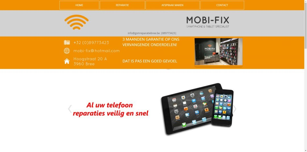 Webdesign: GSM Reparatie Bree