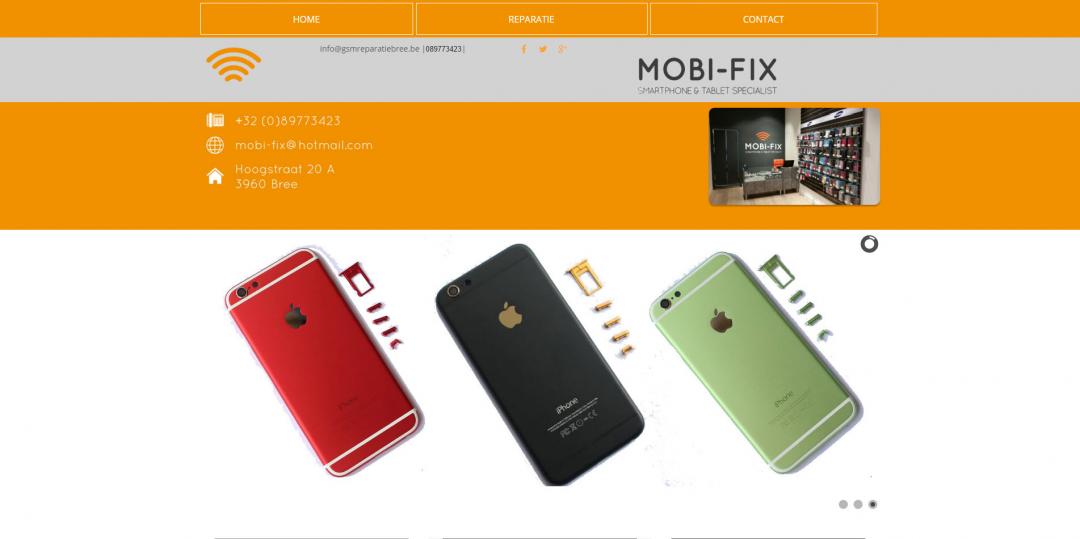 Webdesign: GSM Reparatie Bree Belgie
