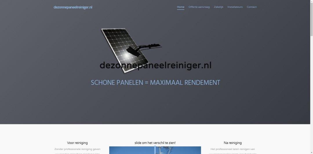 Webdesign: De Zonnepanelen Reiniger
