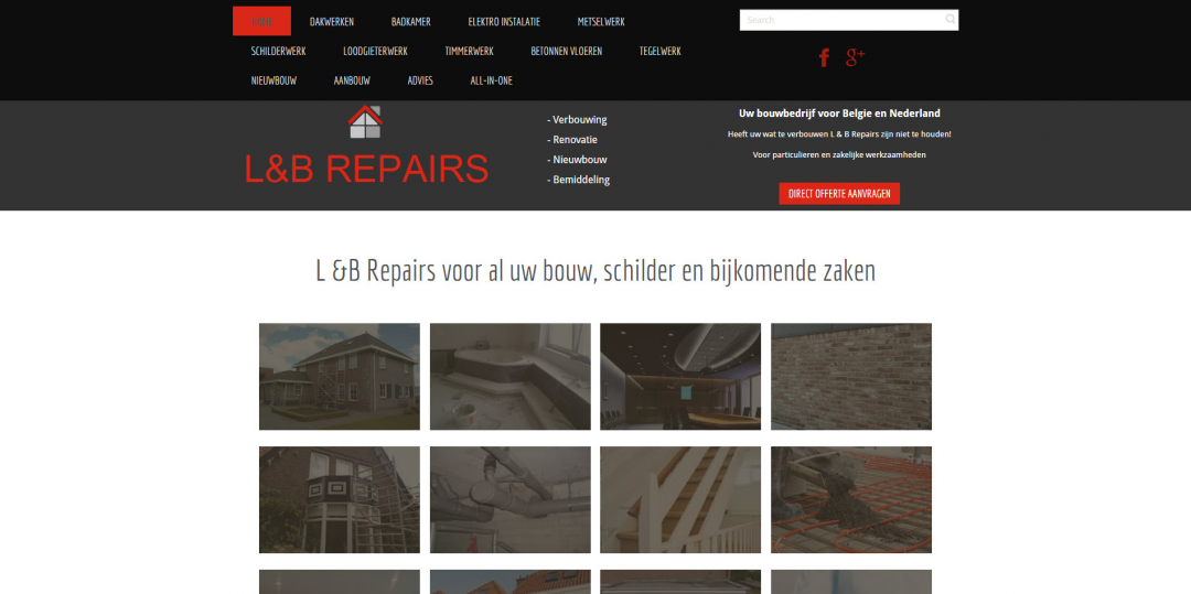 Website: L&B Repairs bv in Belgie