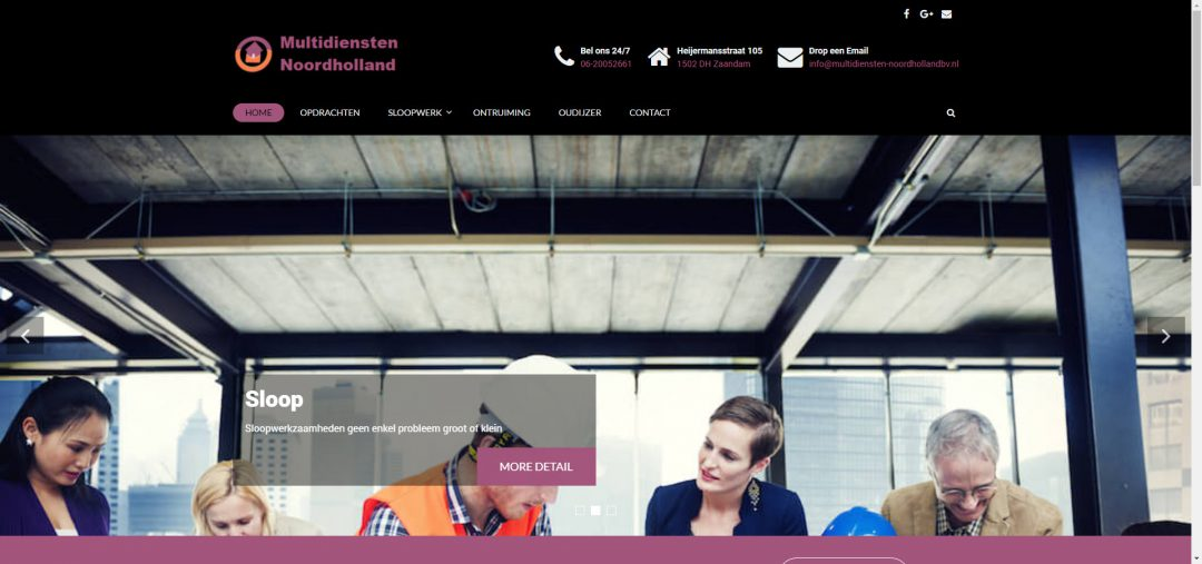 Webdesign: Multidiensten Noordholland