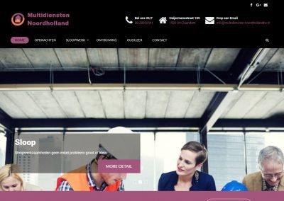 Webdesign: Multidiensten Noordholland
