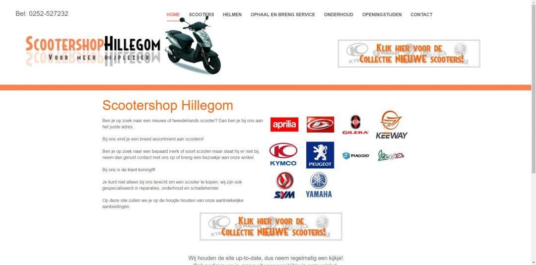 Webdesign: Scootershop Hillegom
