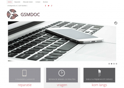Webdesign: GSM Doc