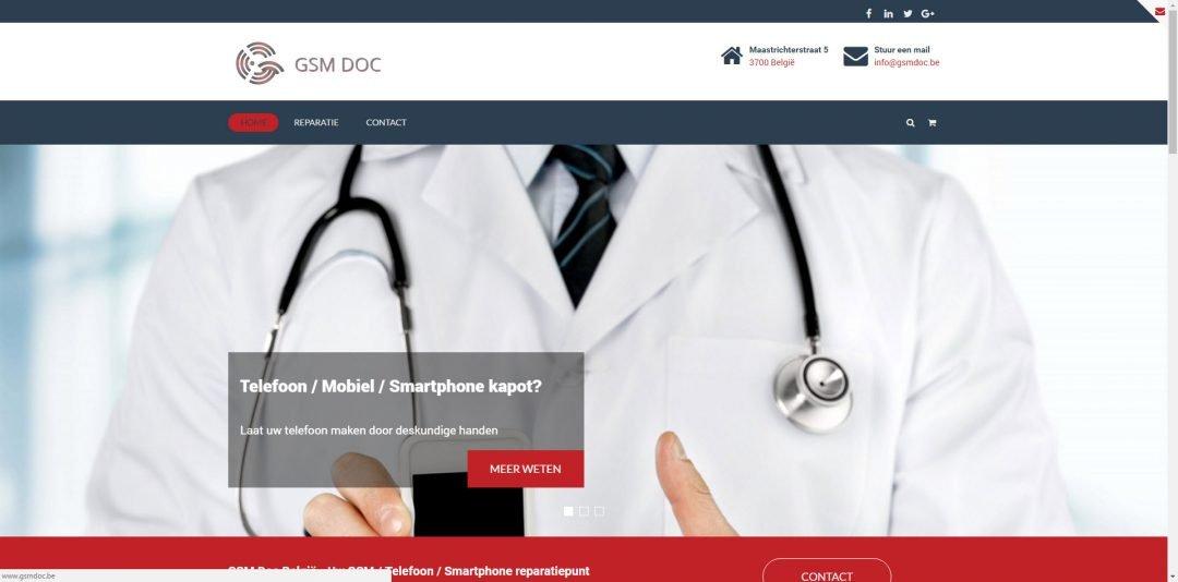 Webdesign: GSM Doc Belgie v1