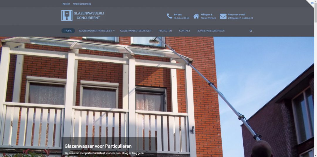 Webdesign: Glazen-wasserij.nl