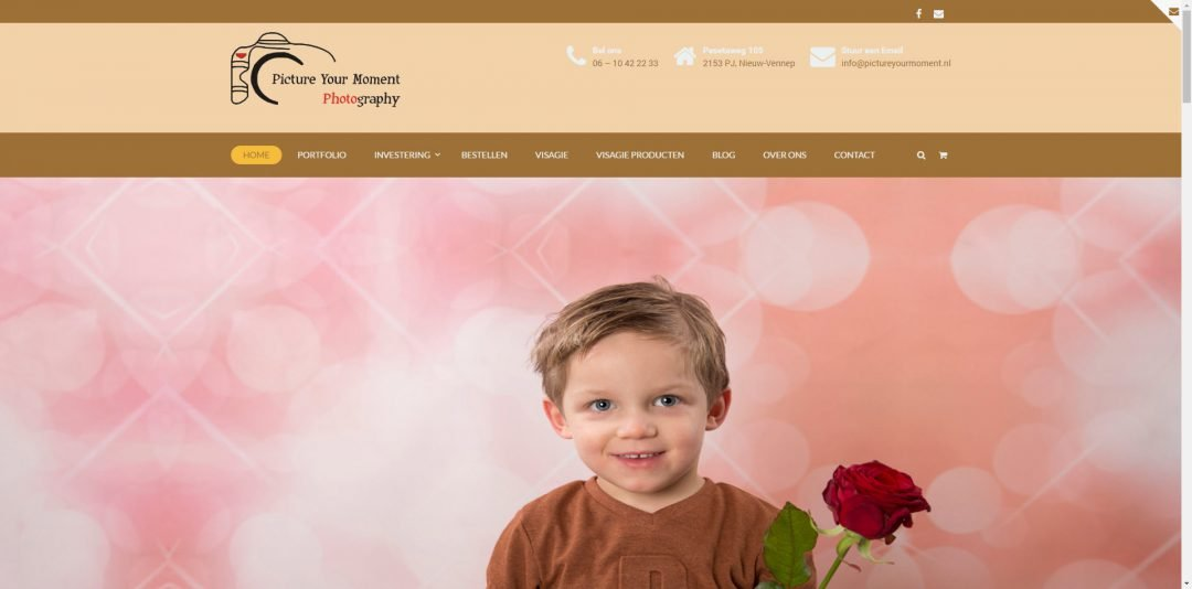 Webdesign: Picture your moment v1