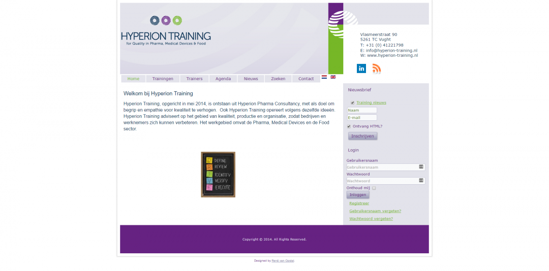 Webdesign: Hyperion Training