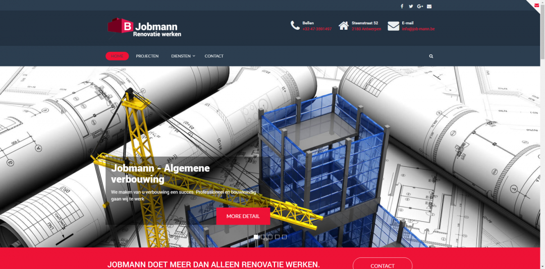 Webdesign: Job-mann Belgie