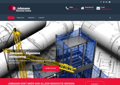 Webdesign: Job-mann Belgie