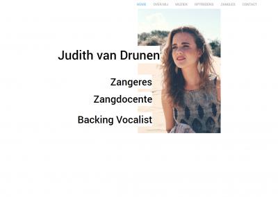 Webdesign Judith van Drunen