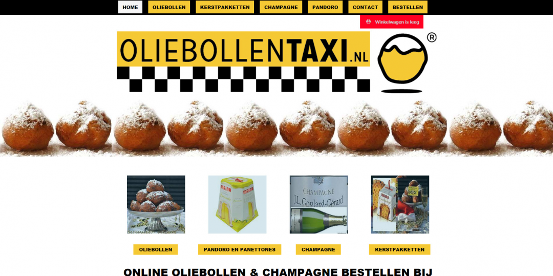 Webshop: Oliebollentaxi