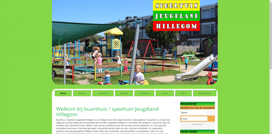 Website: Speeltuin Jeugdland v1