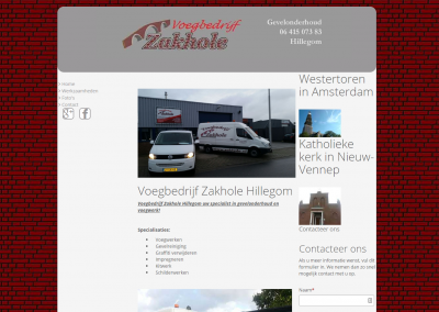 Webdesign: Voegbedrijf Zakhole