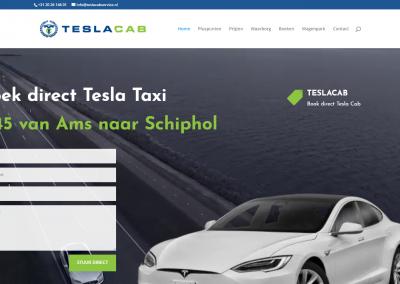 Webdesign en SEO: Tesla Taxi Service