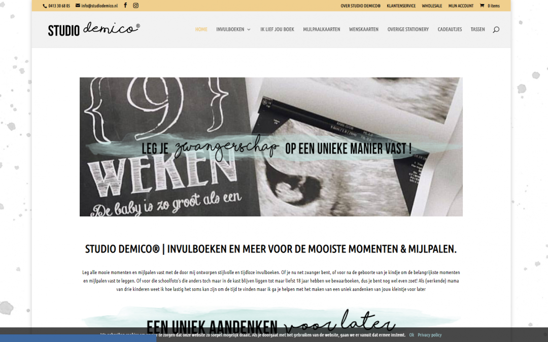 Webdesign: Demico Studio (Webshop)