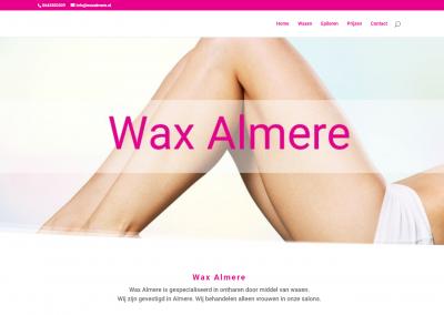 Webdesign: Wax Almere